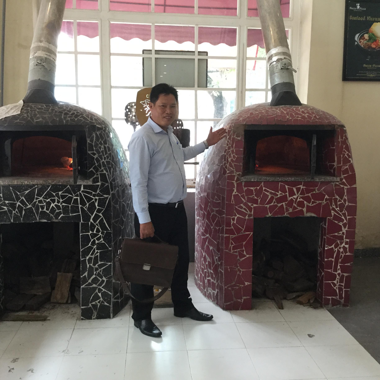 Kết quả hình ảnh cho lò pizza bằng gạch